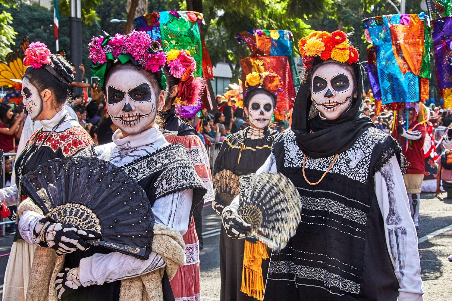 Day of the dead parade in Oaxaca, Mexico