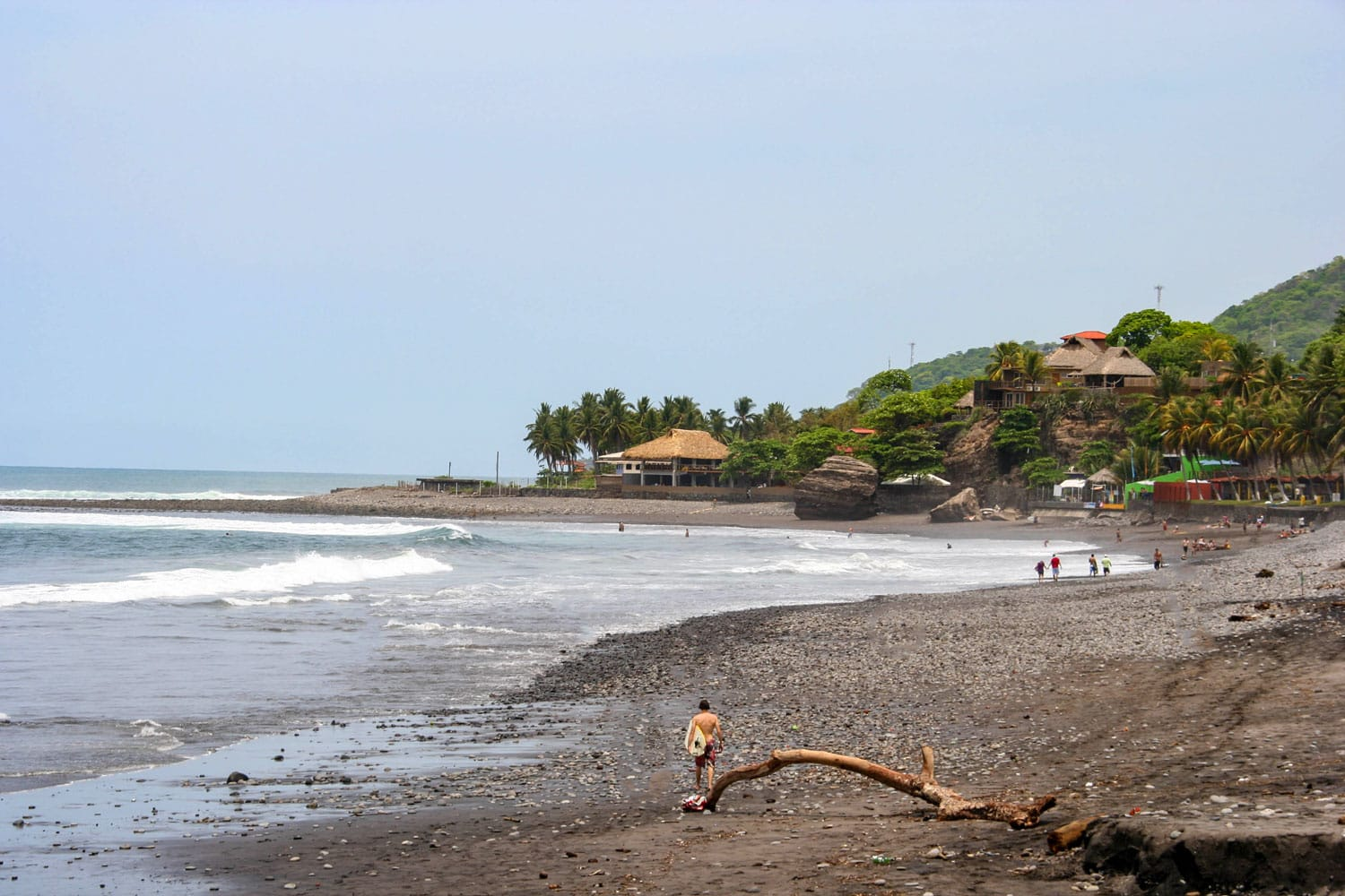 El Tunco beach in El Salvador, Central America