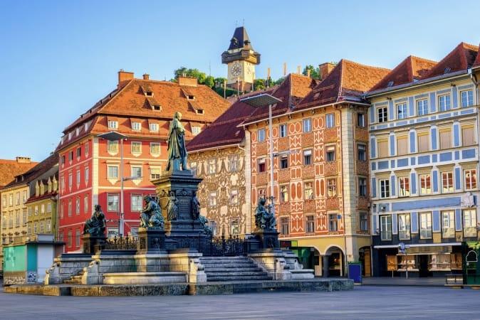 Old Town Graz in Austria