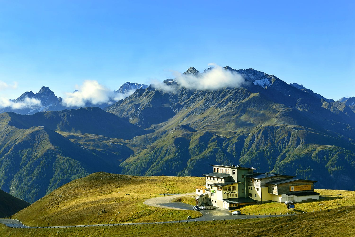 The Grossglockner high alpine road is the highest mountain road in Austria