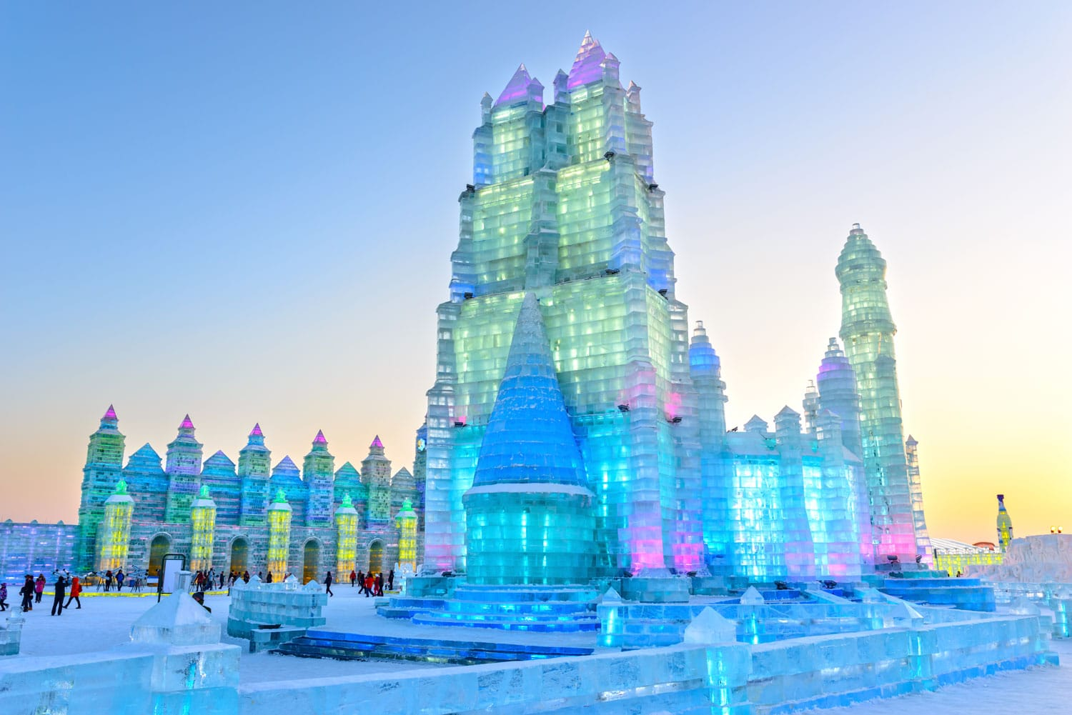 Ice building in Harbin Ice and Snow World, China