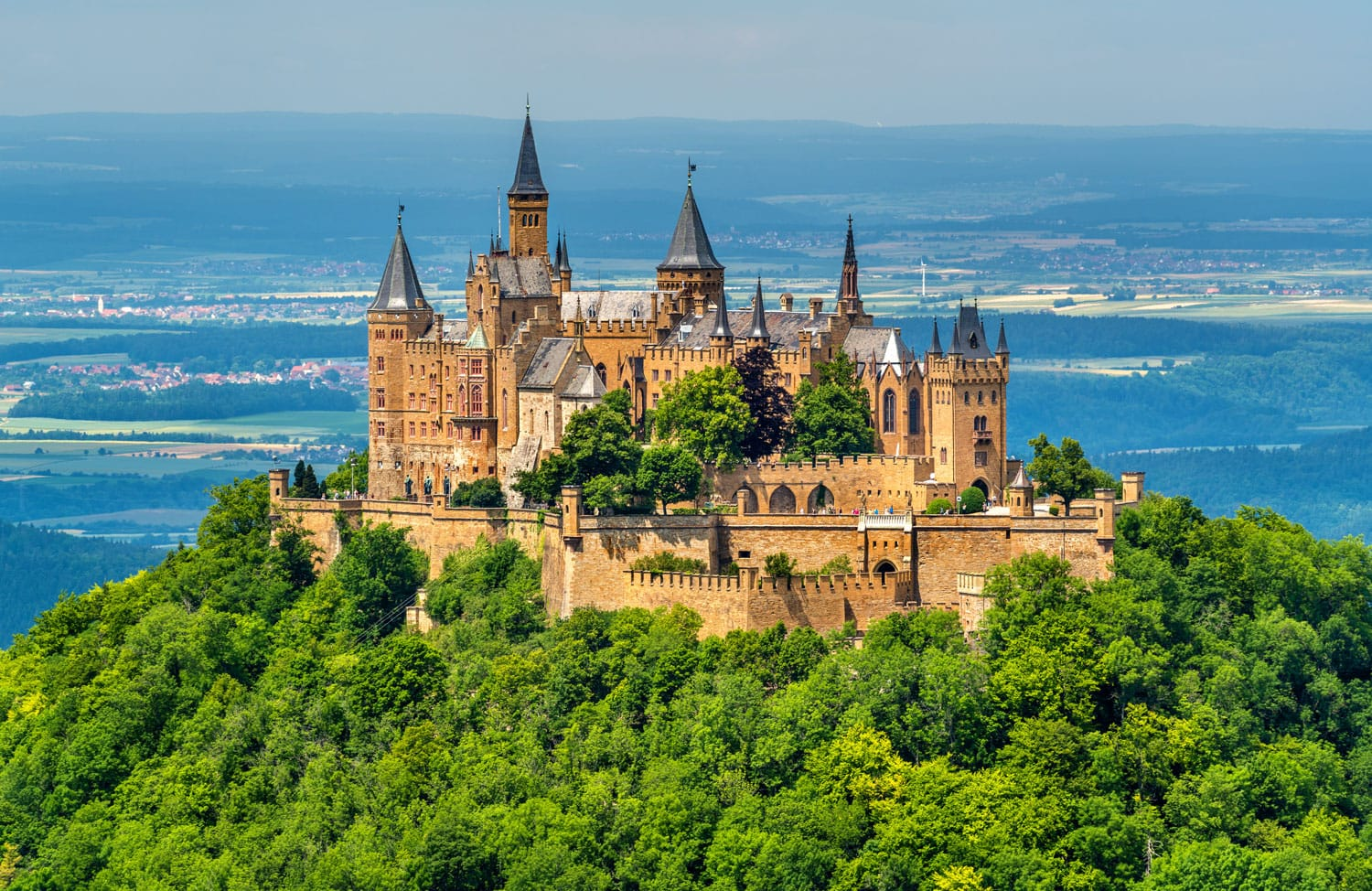 View of Hohenzollern Castle in the Swabian Alps - Baden-Wurttemberg, Germany