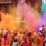 Holi celebration in Nepal or India