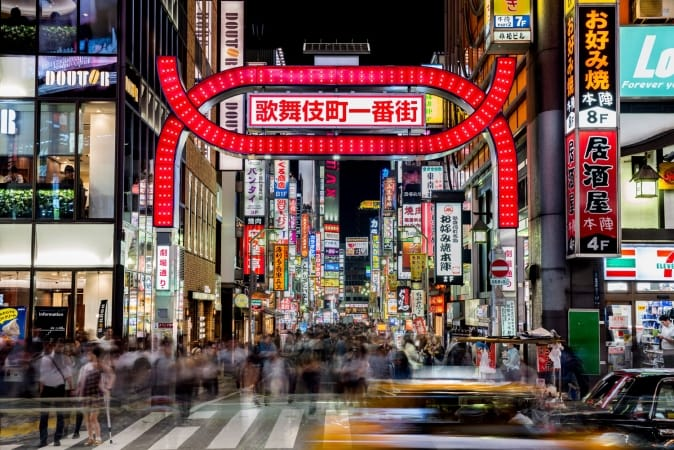 Night life in Kabukicho, Tokyo, Japan