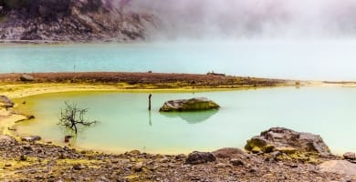 Foggy day at Kawah Putih