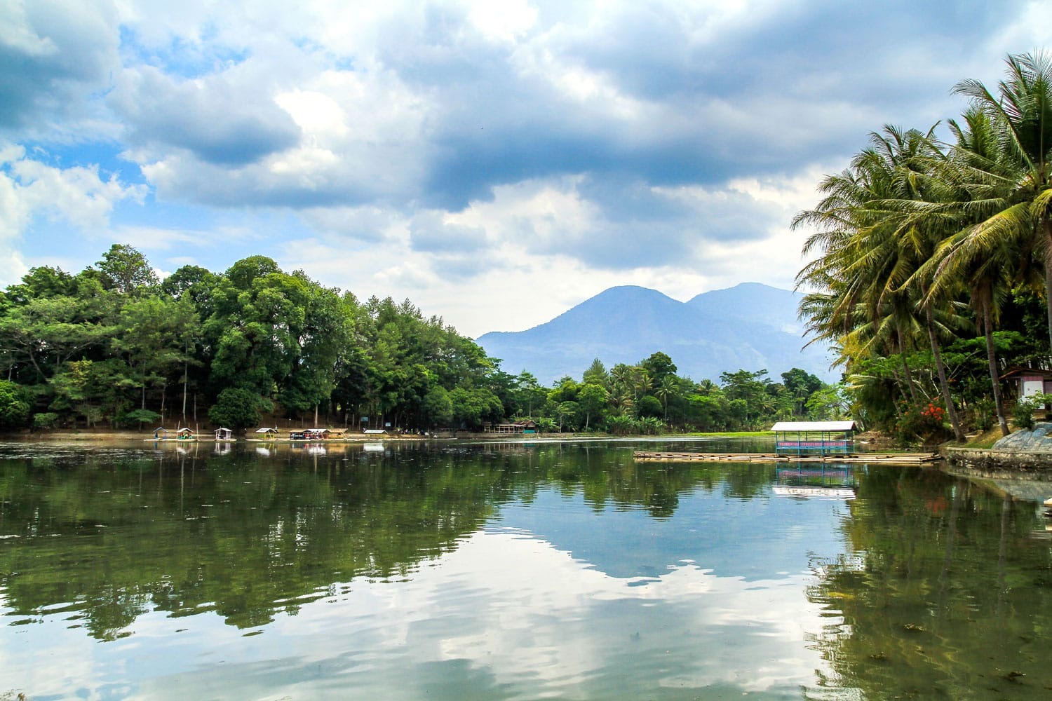 The lake of Situ Patenggang, West Java, Indonesia