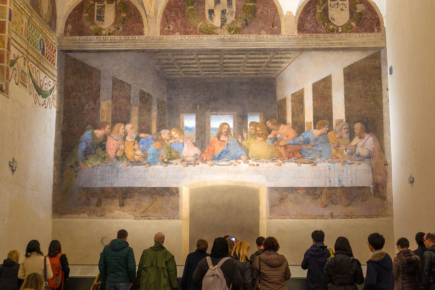 The Last Supper in the refectory of the Convent of Santa Maria delle Grazie in Milan, Italy