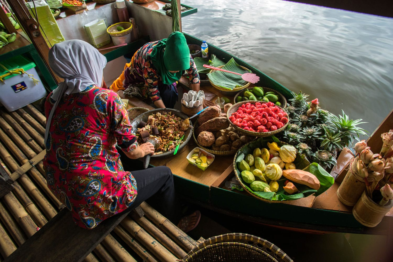 View around the floating market in Lembang, Bandung, Indonesia.