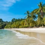 Beautiful tropical beach of Manuel Antonio in Costa Rica
