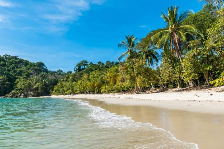 Beautiful Tropical Beach Of Manuel Antonio In Costa Rica