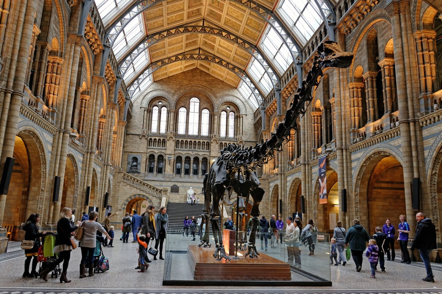 Natural History Museum interior in London, England