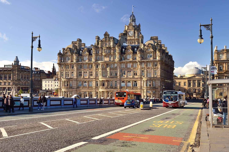 Over the North bridge, Edinburgh, Scotland