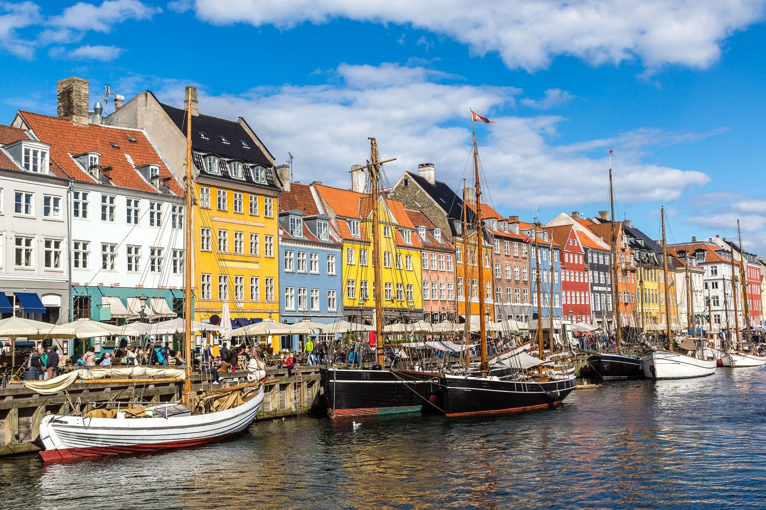 Nyhavn district in Copenhagen, Denmark