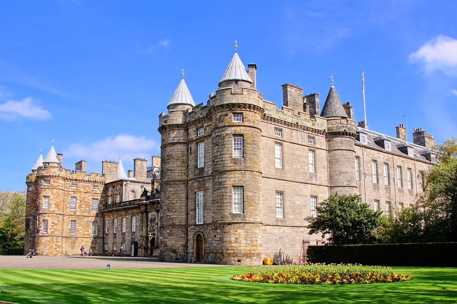 Palace of Holyroodhouse, official residence of the Queen in Scotland