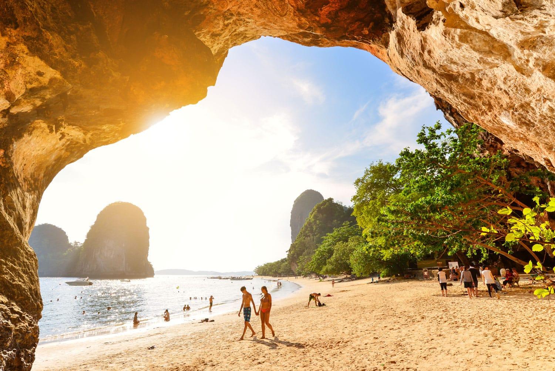 Phra nang cave beach in Krabi,Thailand