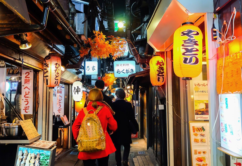 Omoide Yokocho alley in Tokyo, Japan