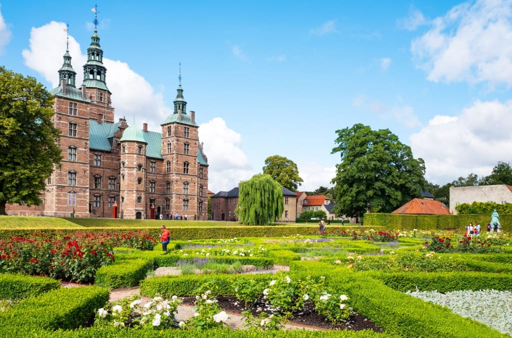 The Rosenborg castle seen from the King's garden in Copenhagen, Denmark