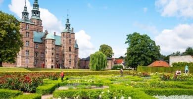 The Rosenborg castle seen from the King's garden in Copenhagen, Denmark
