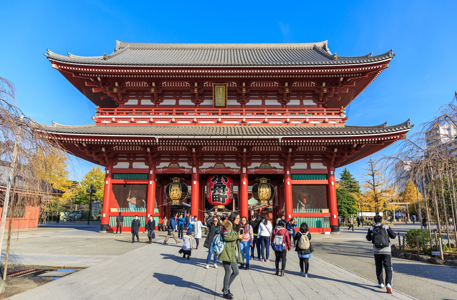 The Senso-ji Buddhist Temple in Japan