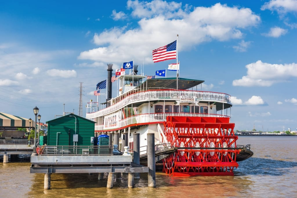 The steamboat Natchez on the Mississippi River