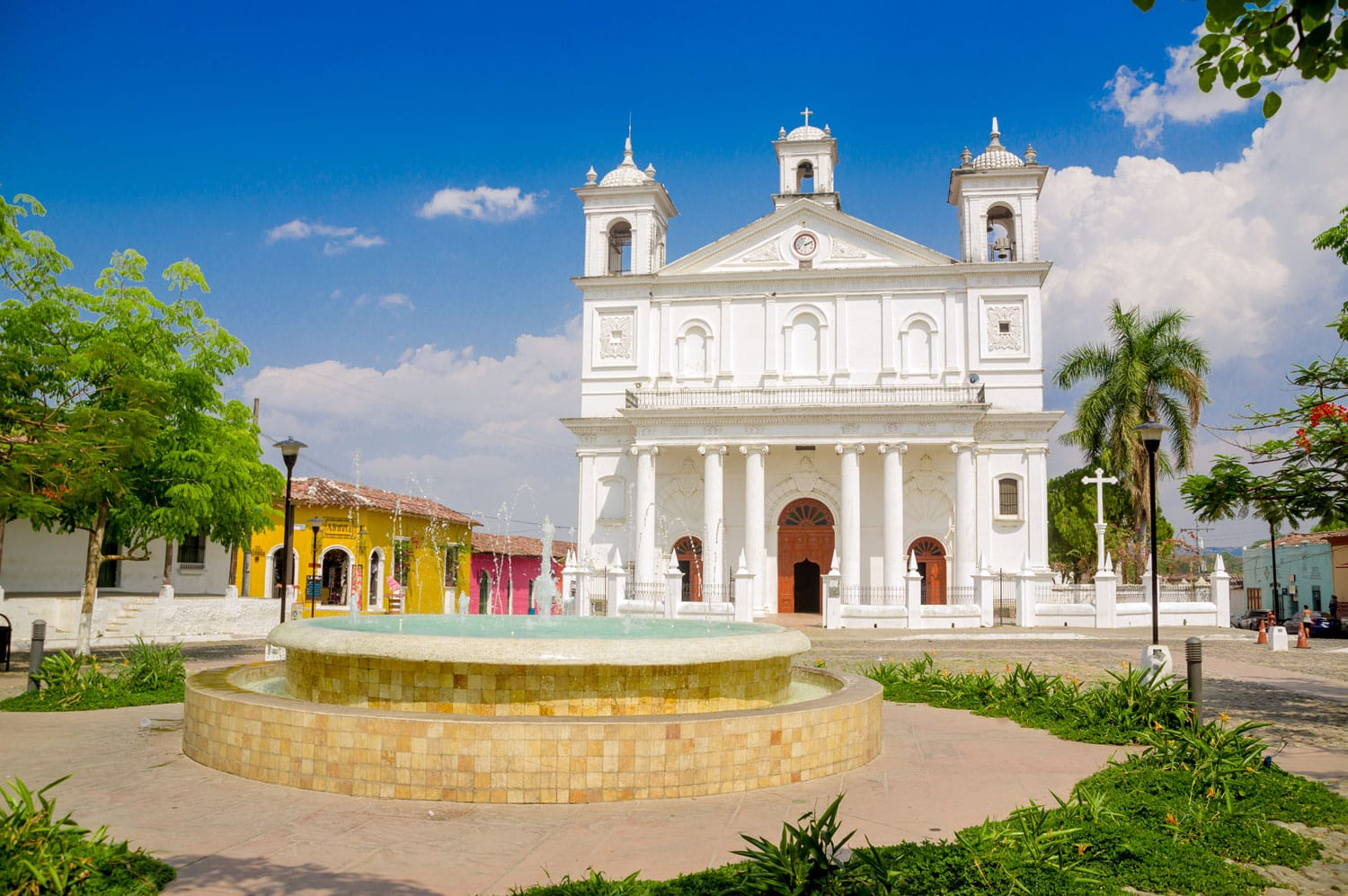 Suchitoto town in El Salvador