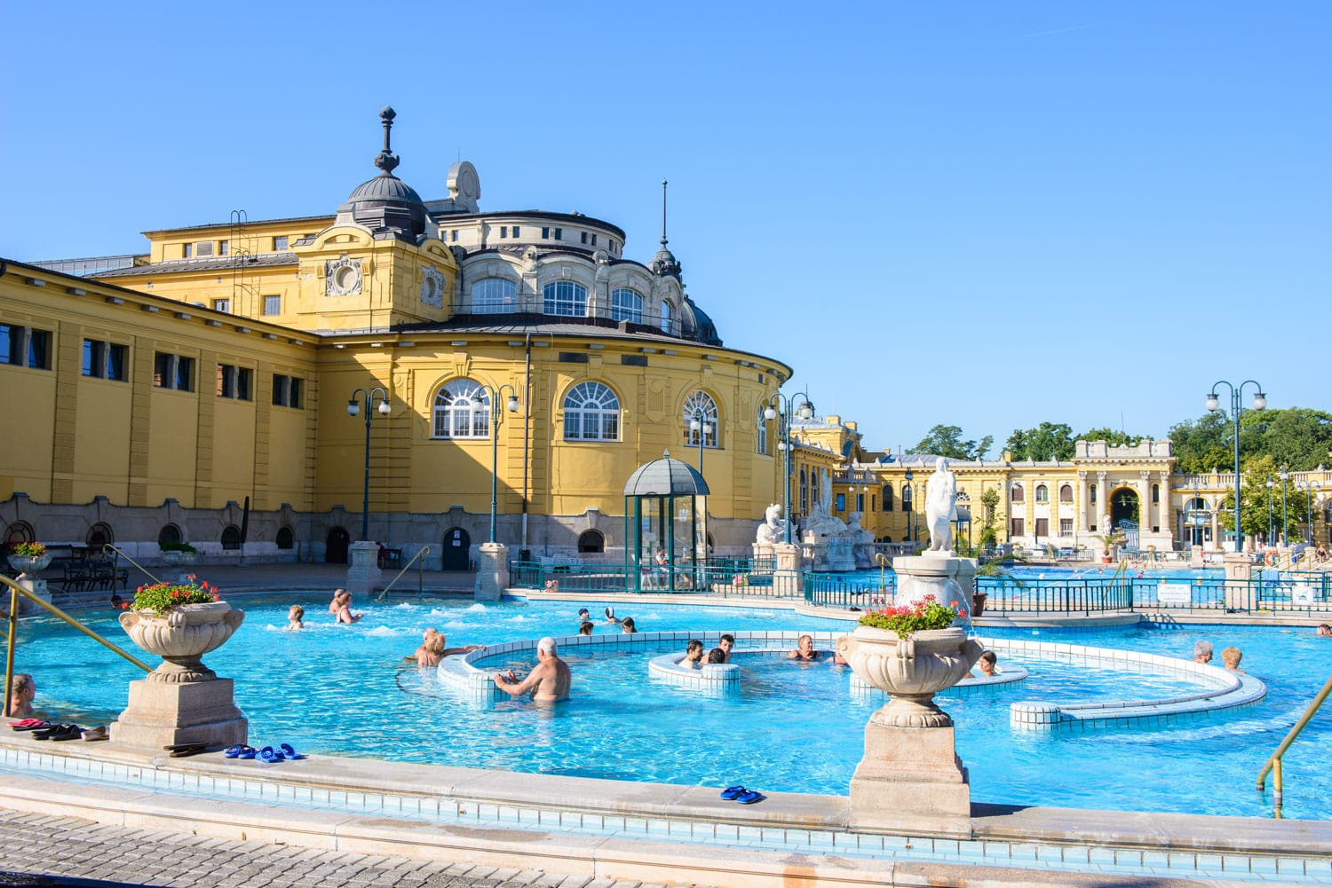 View of the Szechenyi Medicinal Bath in Budapest