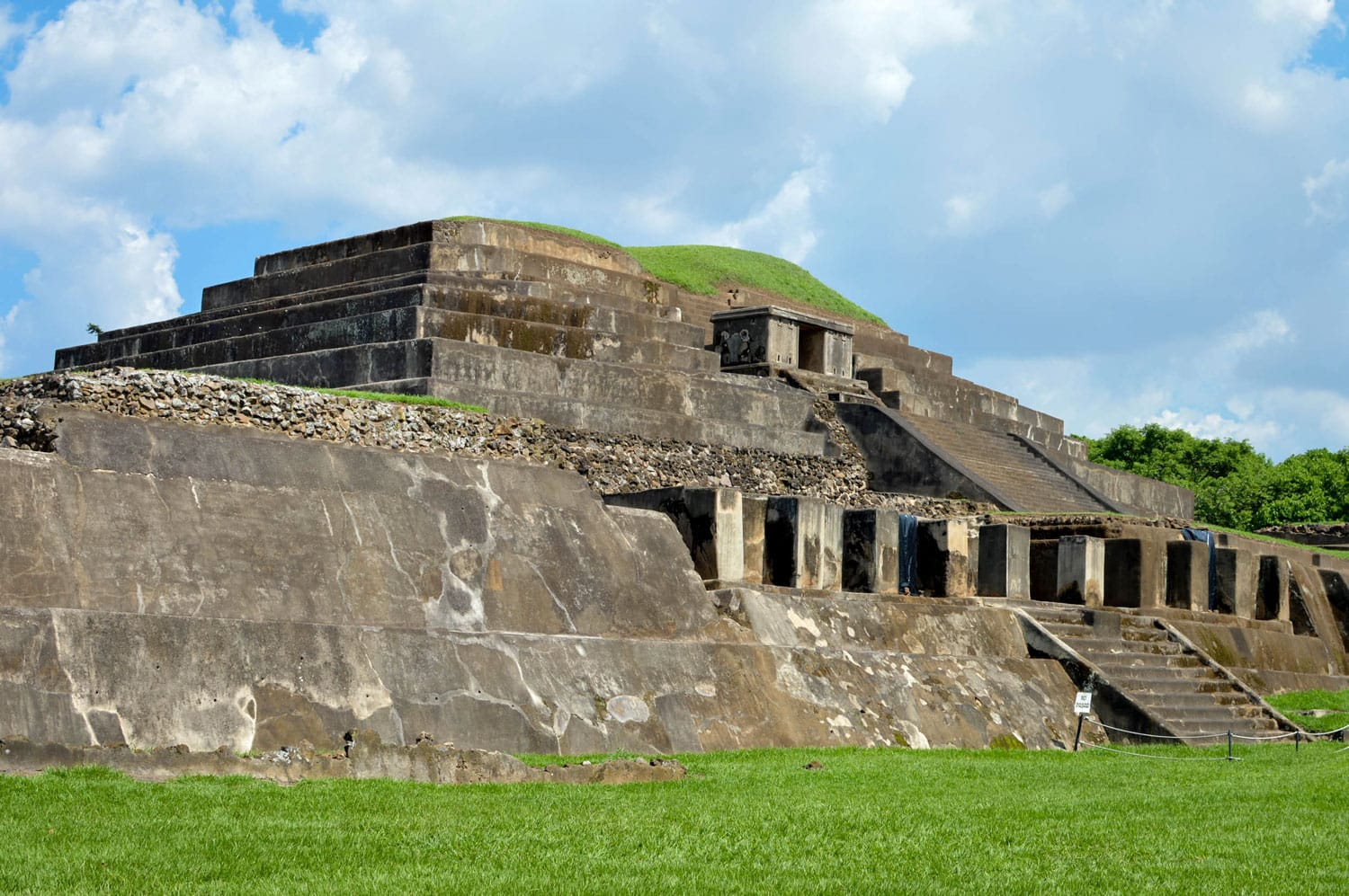 Tazumal archaeological site of Maya civilization in El Salvador