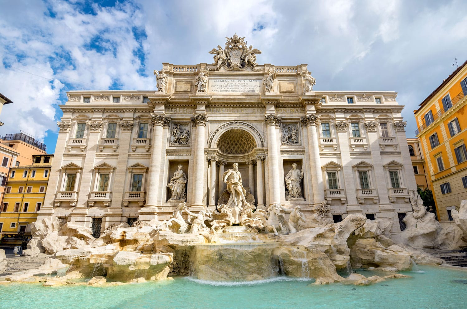 Famous fountain Trevi in Rome. Italy