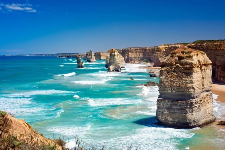 A picturesque photo of The Twelve Apostles, Australia