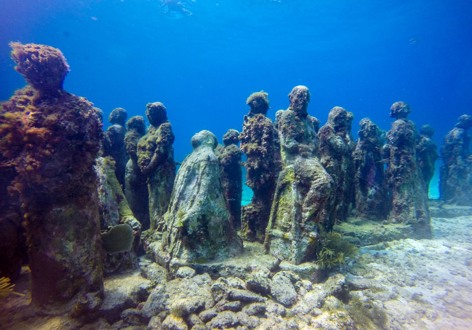 Underwater Museum in Cancun Mexico
