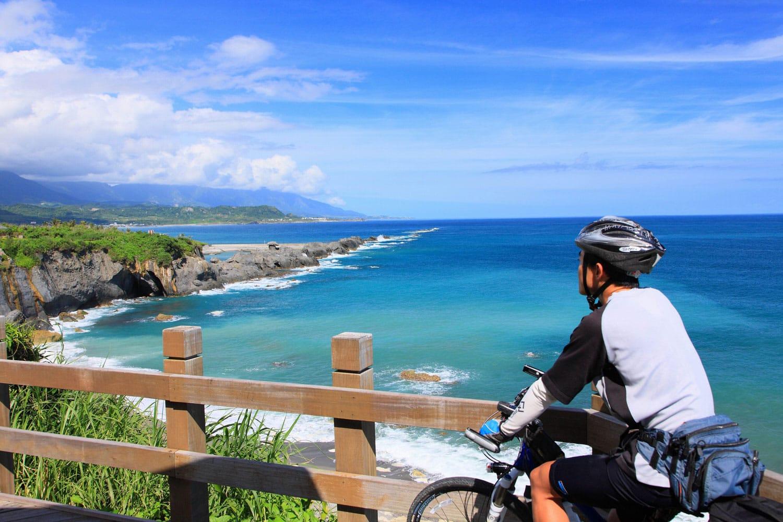 Bike path on the east coast of Taiwan