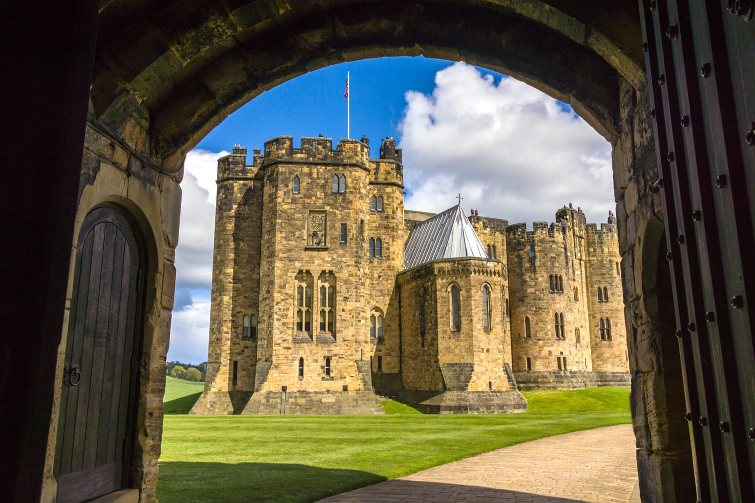 Alnwick Castle in England, UK