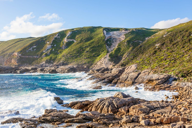 Coastal scene in Torndirrup National Park, near Albany, Western Australia.