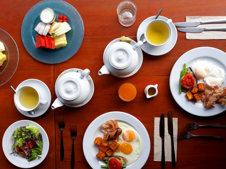 Breakfast at Reverie Siam Resort in Pai, Thailand