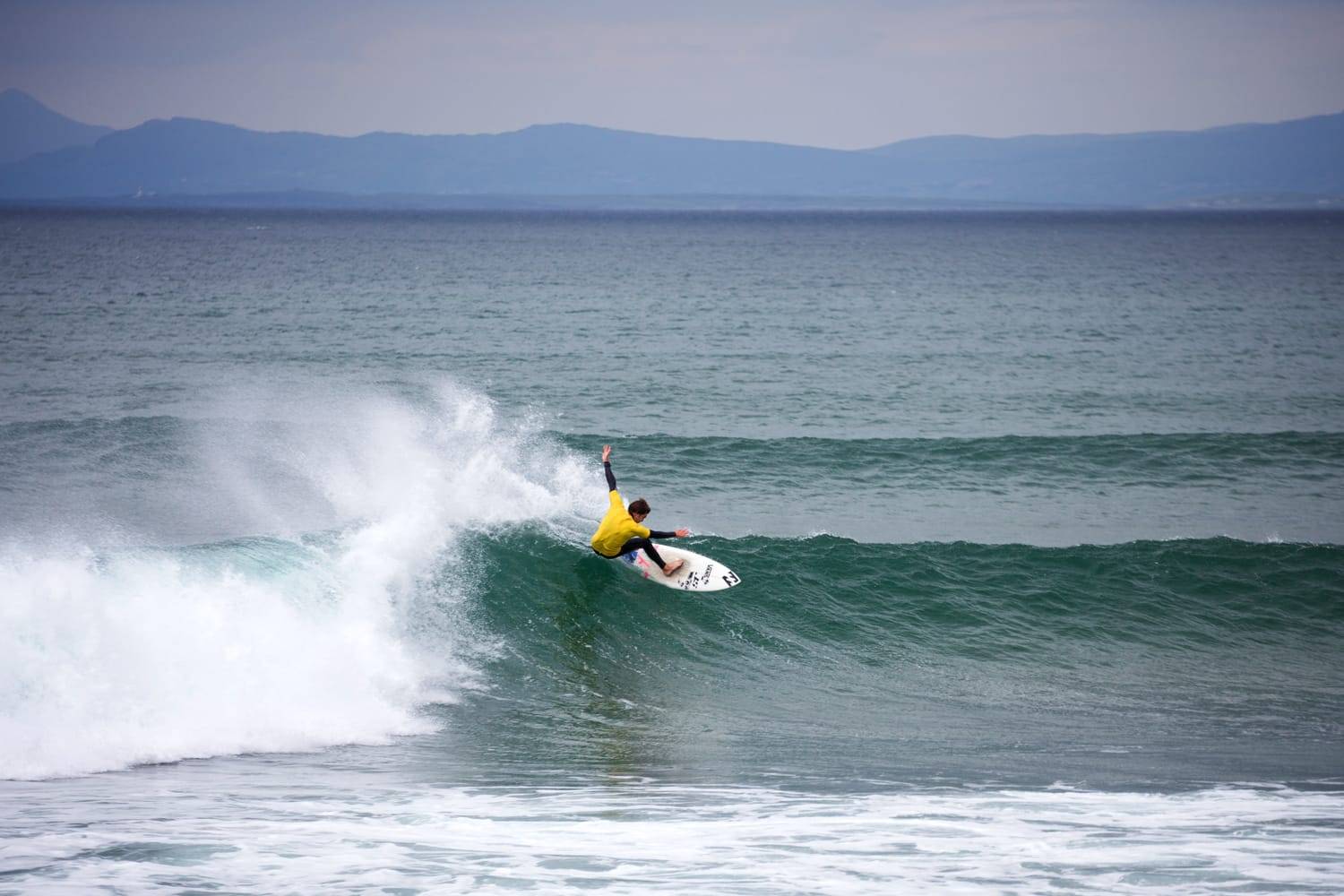 Surfer in Bundoran, Ireland