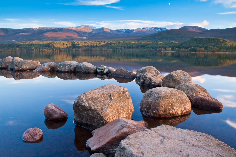 Loch Morlich in the Cairngorm National Park, Highlands of Scotland
