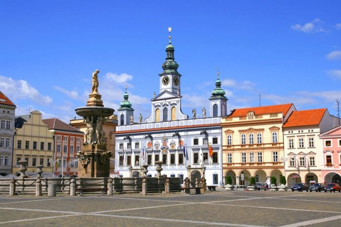Ceske Budejovice in Czech Republic