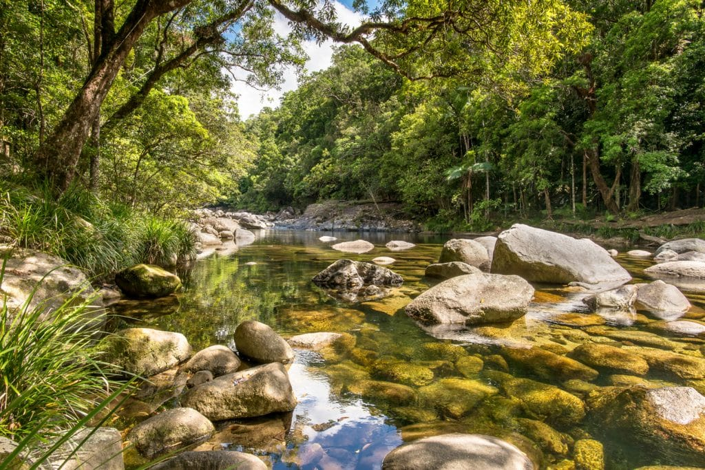 Mossman River Lookout, in the Mossman Gorge, in the Daintree National Park, Queensland, Australia.