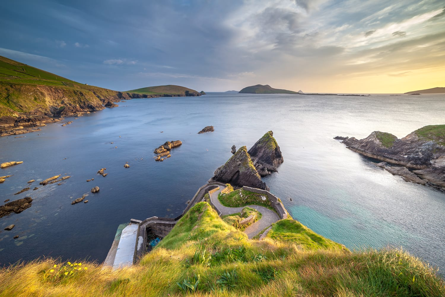 Dunquin Pier On The West Coast Of Kerry In The Dingle Peninsula
