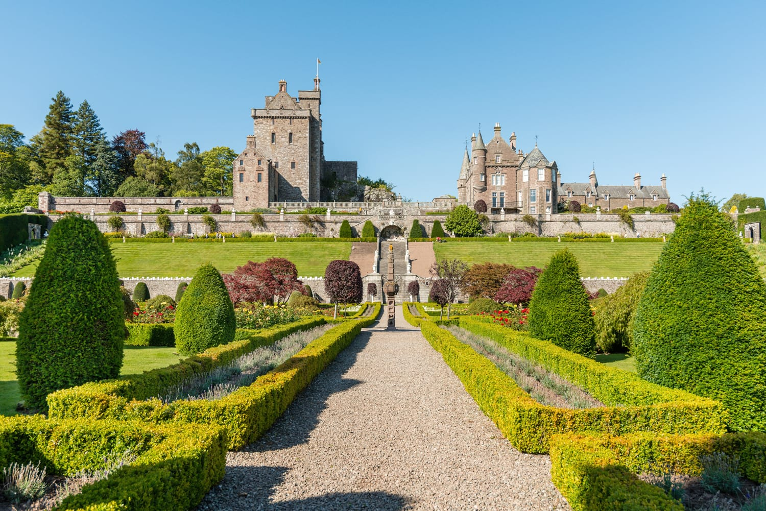 Drummond Castle and Gardens near Crieff in Perthshire, Scotland