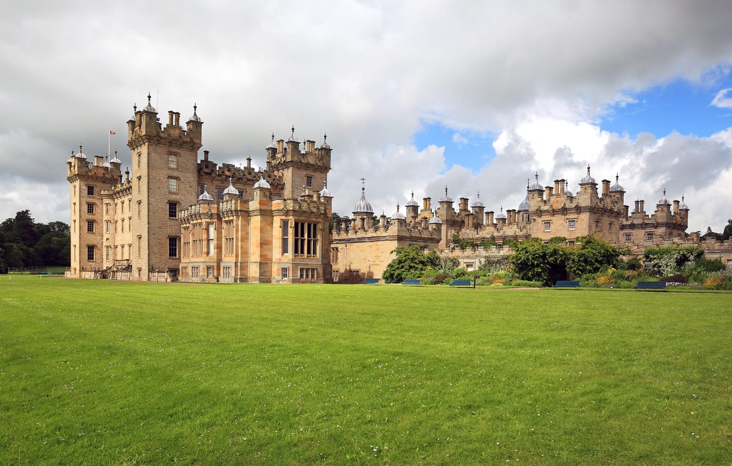 Floors Castle in Scotland