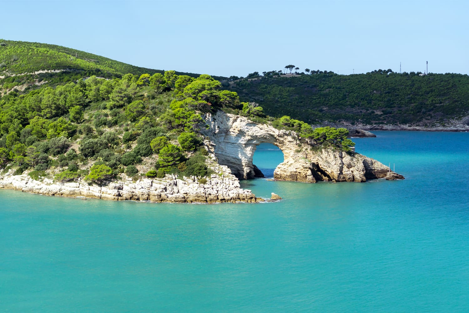 Panorama of Felice Arch located in Gargano National Park in Italy