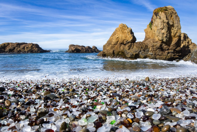 Glass Beach in California, USA