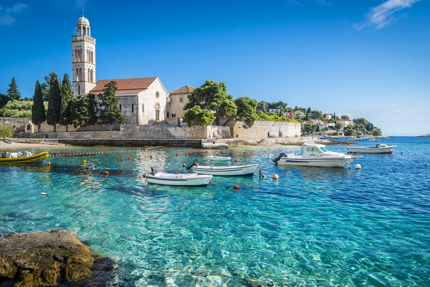 Amazing Hvar city on Hvar island, Croatia