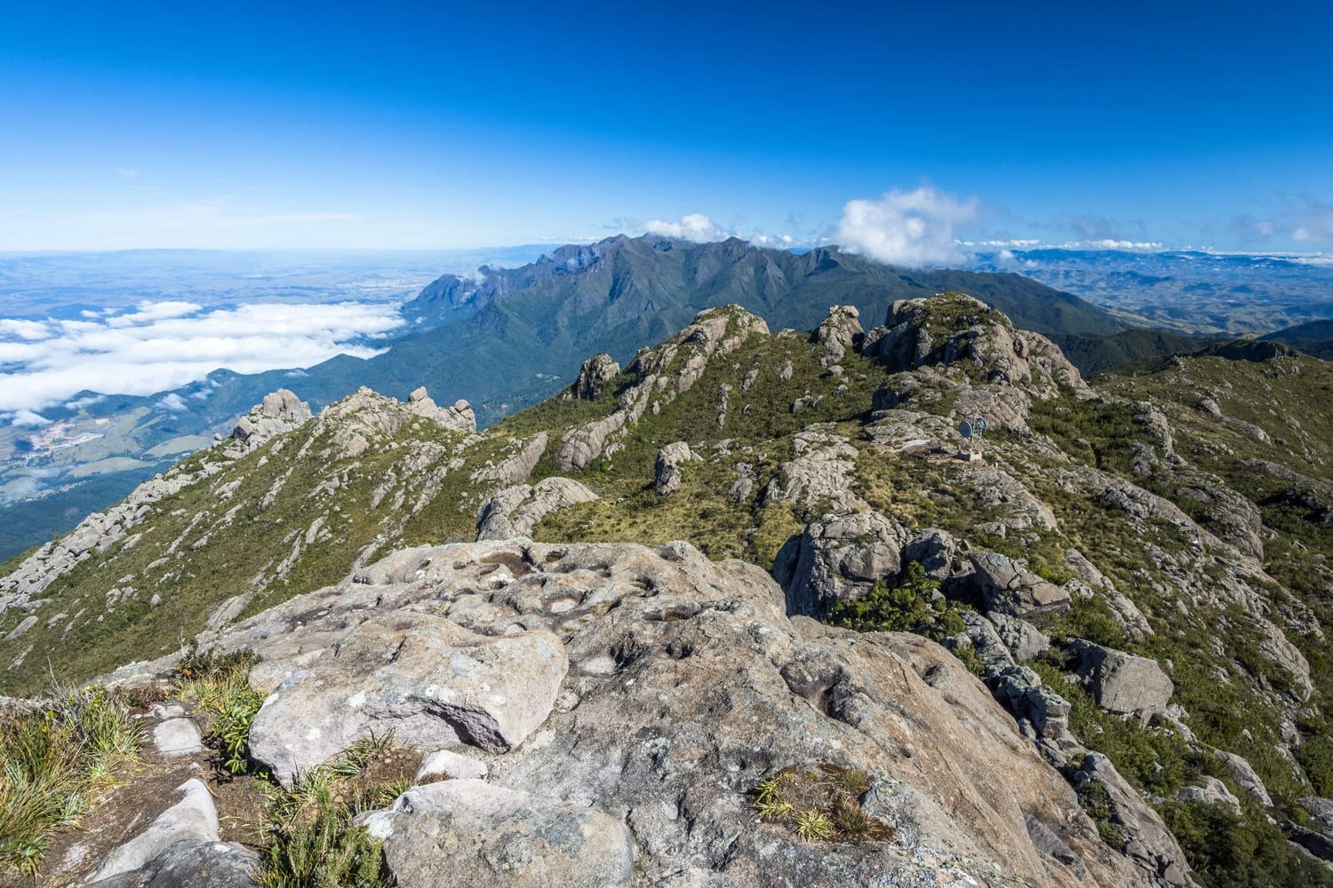 View from the summit of Morro do Couto (Couto Mountain) while hiking in Itatiaia National Park, Rio de Janeiro, Brazil