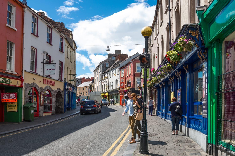 Kierans street in Kilkenn, Ireland