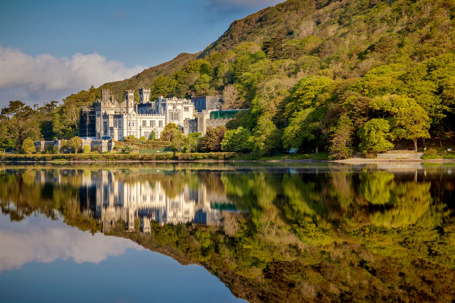 Beautiful Reflections At Kylemore Abbey In Connemara