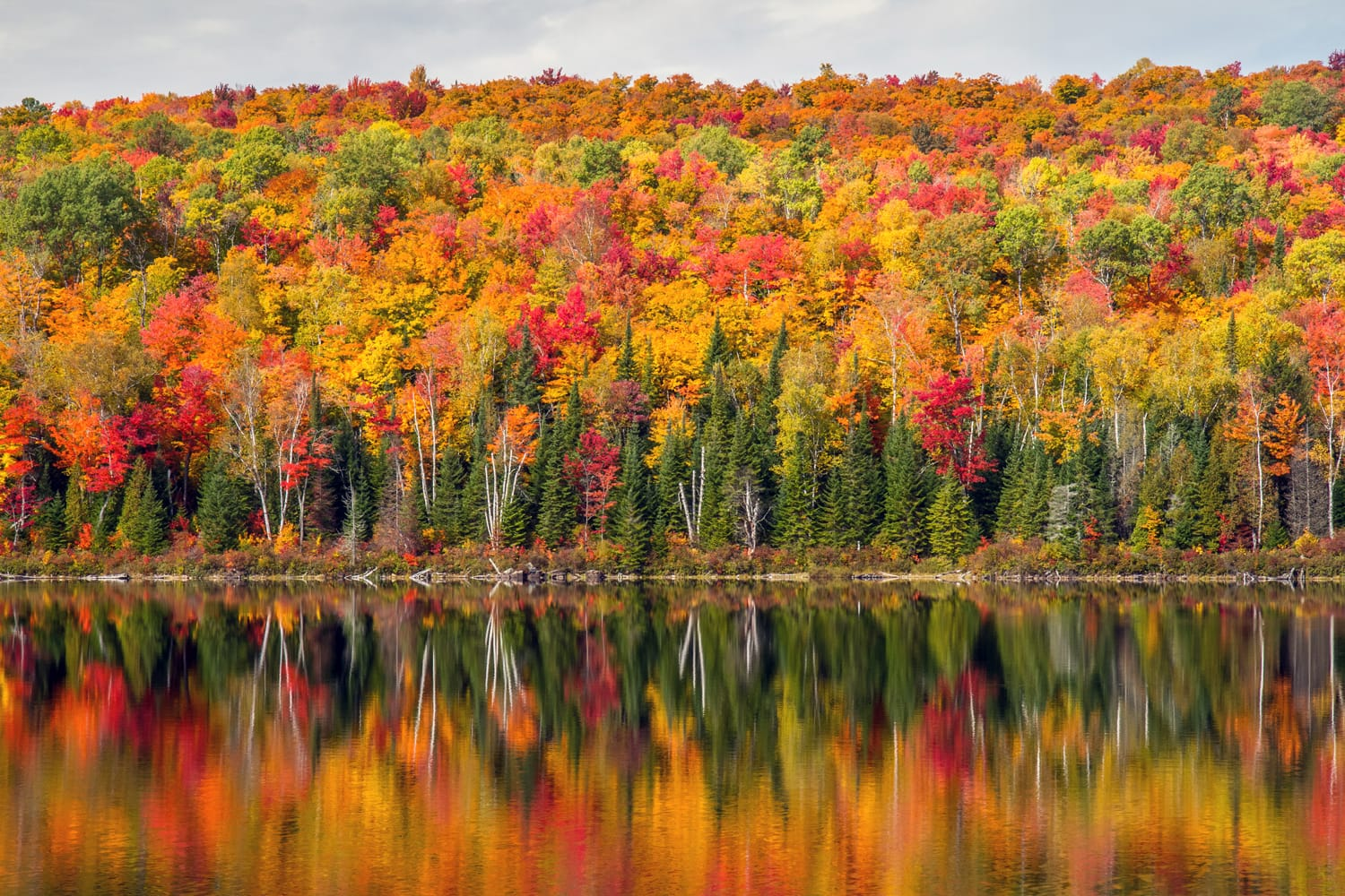 Fall colors at La Mauricie National Park in Canada