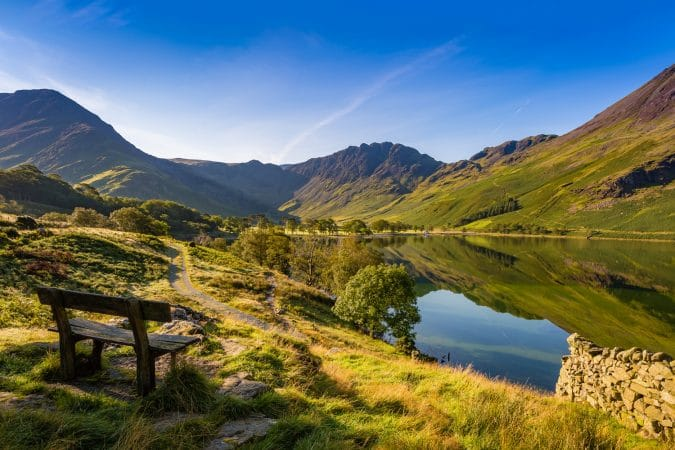 Early morning at Buttermere, The Lake District, Cumbria, England