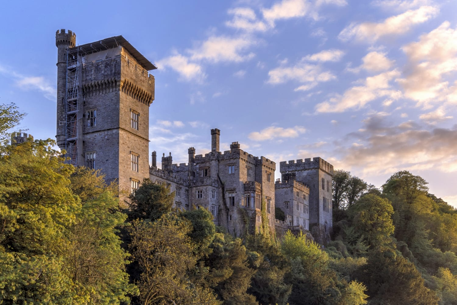 Lismore Castle in County Waterford, Ireland.